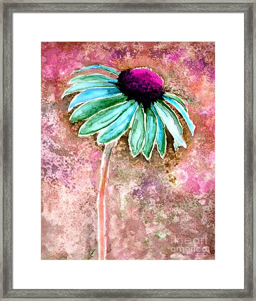 Framed Print featuring the painting Painting Cone Flower 8615d by Mas Art Studio