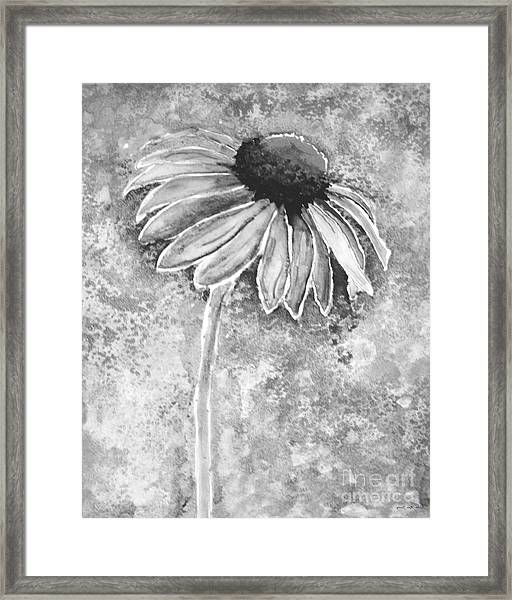 Framed Print featuring the painting Painting Cone Flower 8615e by Mas Art Studio