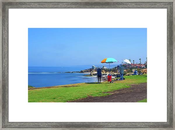 Painting The Coastline Framed Print
