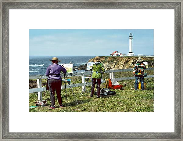 Painting The Point Framed Print