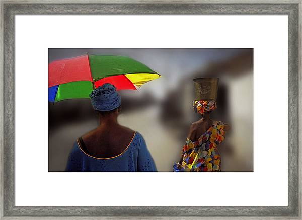 Painting The Streets Of Kayar Framed Print