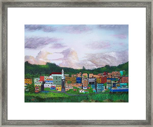 Painting The Town Framed Print