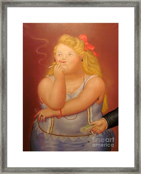 Painting Woman Framed Print