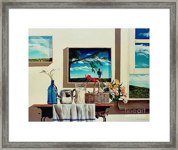 Paintings Within A Painting Framed Print