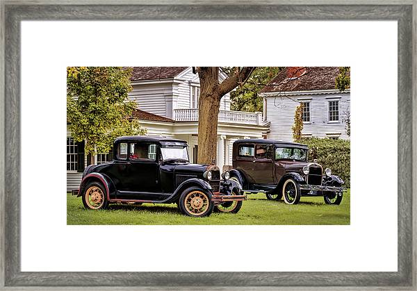 Pair Of Ford Model A  Framed Print