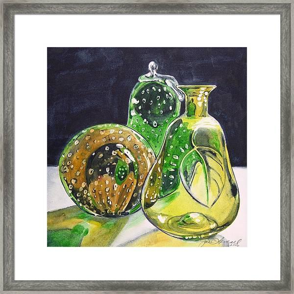 Pair Of Pears Framed Print