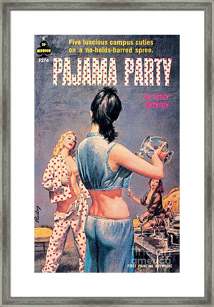 Pajama Party Framed Print