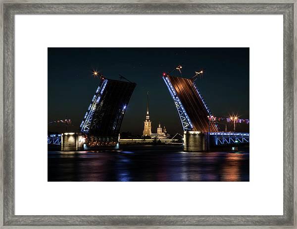 Palace Bridge At Night Framed Print