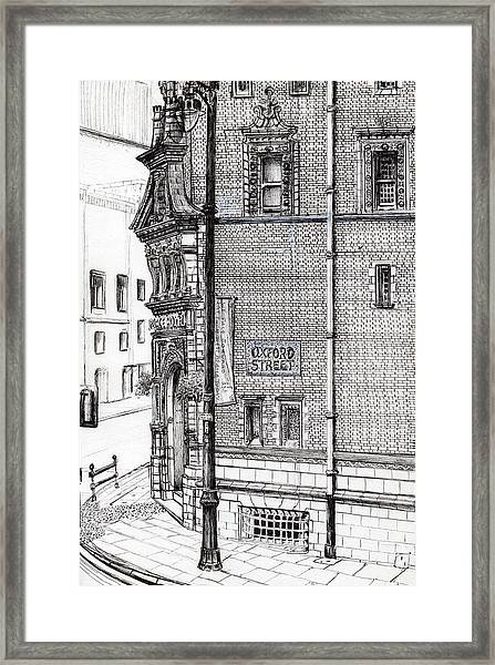 Palace Hotel Oxford Street Manchester Framed Print