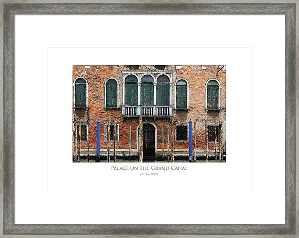 Palace On The Grand Canal Framed Print