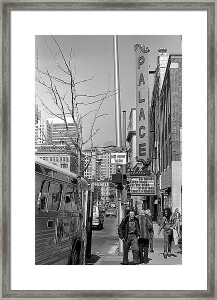 Palace Theatre, 1974 Framed Print