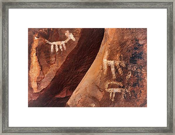 Palatki Pictographs9 Pnt Framed Print