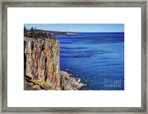 Palisade Head Tettegouche State Park North Shore Lake Superior Mn Framed Print