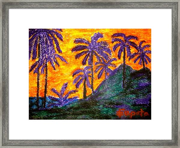 Palm Trees In Paradise Framed Print