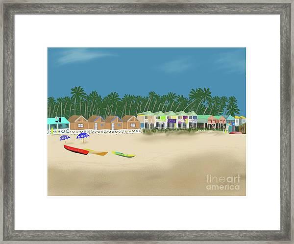 Palolem Beach Goa Framed Print
