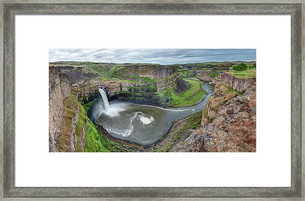 Palouse Falls In The Spring Framed Print
