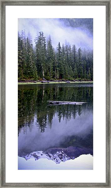Pamelia Lake Reflection Framed Print