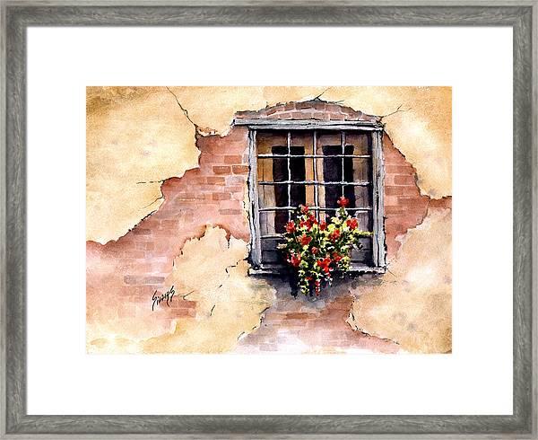 Pampa Window Framed Print