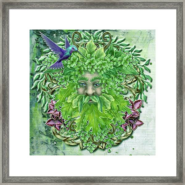 Pan The Protector Framed Print