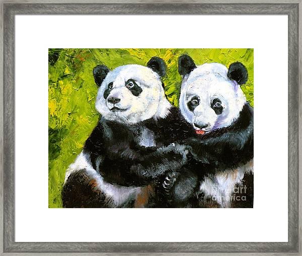 Panda Date Framed Print