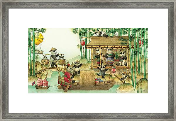 Pandabears Christmas 03 Framed Print