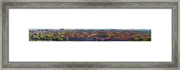 Panorama Of The Forbidden City In Bejing Framed Print