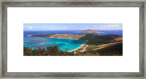 Panoramic Aerial View Of Magens Bay Framed Print by George Oze