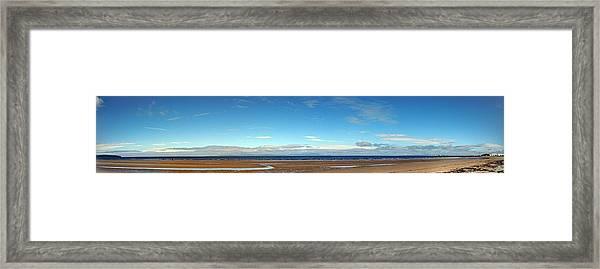 Panoramic, Ayr Beach, Scotland Framed Print