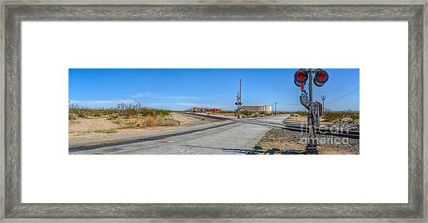 Panoramic Railway Signal Framed Print