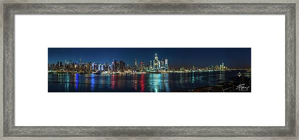 Panoramic Skyline-manhattan Framed Print