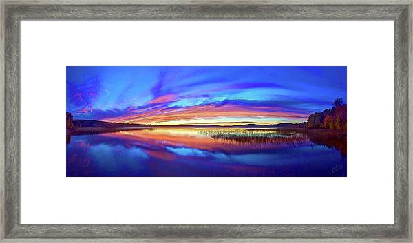 Panoramic Sunset At Round Lake Framed Print