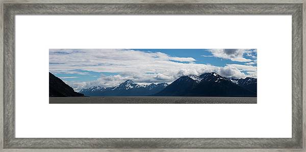 Panoramic View Of Beluga Point Framed Print