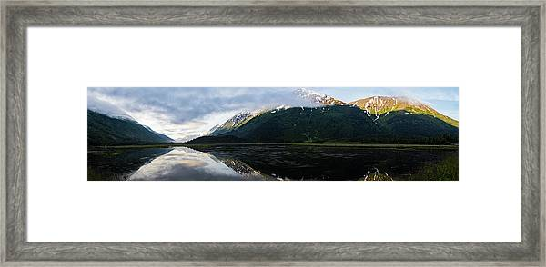 Panoramic View Of Tern Lake Framed Print