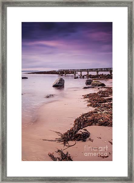 Pans Rocks Beach Framed Print