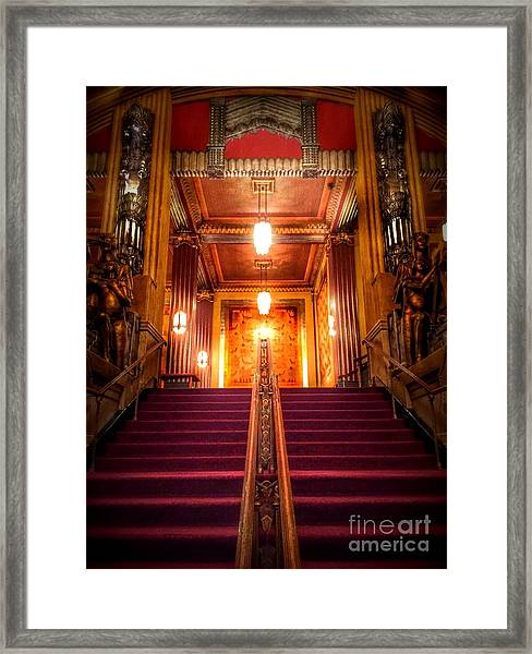Pantages Theater's Grand Staircase Framed Print