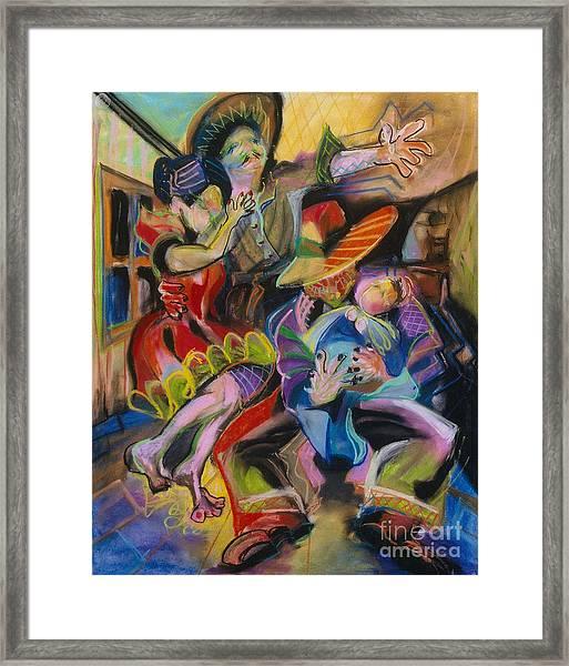 Papa And Bambino Framed Print