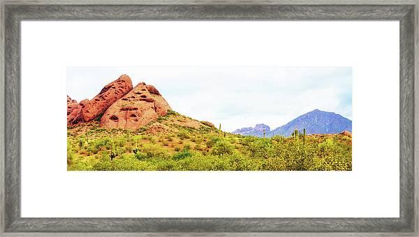 Papago Park Phoenix Arizona Horizontal Banner Framed Print
