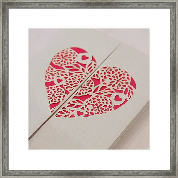 Paper Cut Heart Framed Print