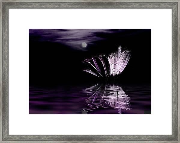 paper Moon Framed Print