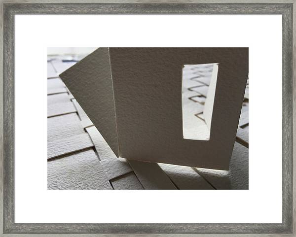 Paper Structure-3 Framed Print