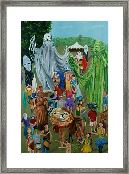Paperhand Puppet Parade Framed Print