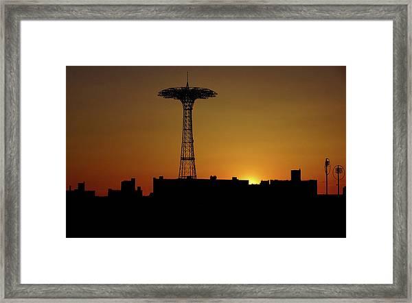 Parachute Jump Coney Island Framed Print