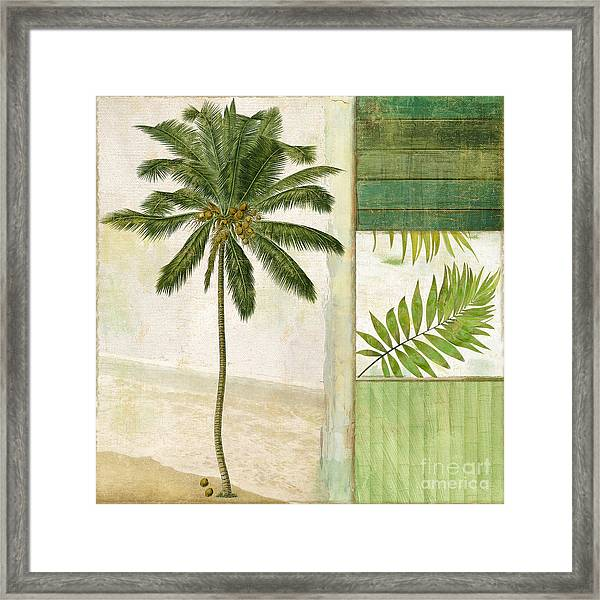 Paradise II Palm Tree Framed Print