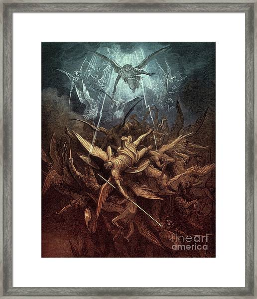 Paradise Lost,  Fall Of The Rebel Angels, Framed Print