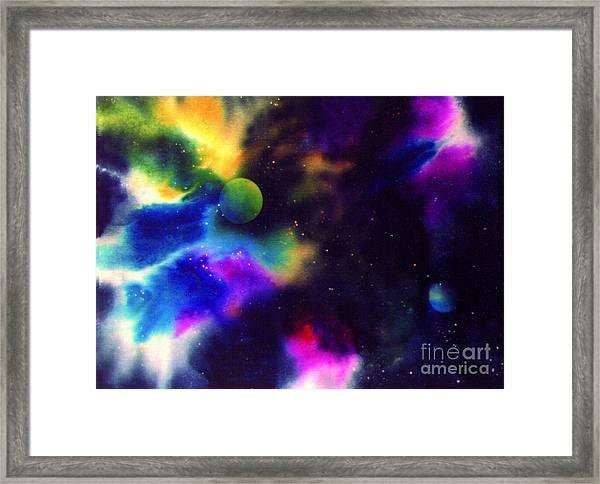 Paradise Planet Framed Print