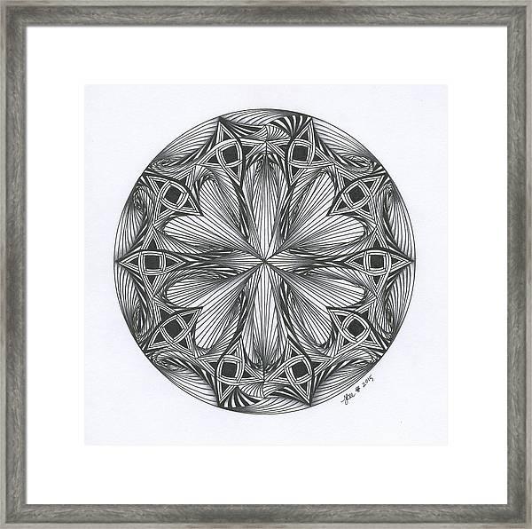 Paradoxical Zendala Framed Print