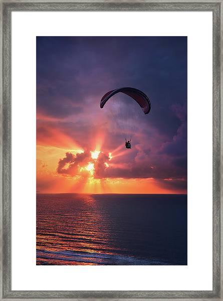 Crack The Skye Framed Print