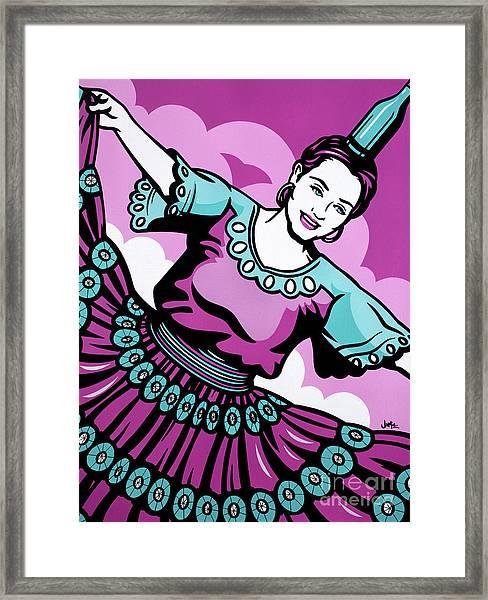 Paraguayan Bottle Dance Framed Print