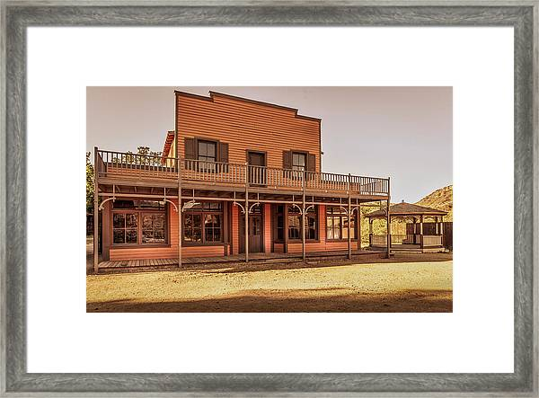 Paramount Ranch Saloon Framed Print