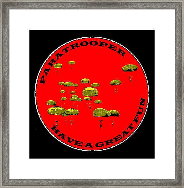 Paratrooper Fun Framed Print